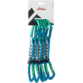 AustriAlpin Eleven Set moschettoni 12cm 5 pezzi, verde/blu